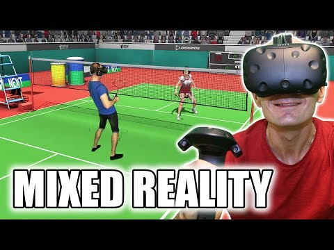 VR Badminton Simulator! High Clear VR Mixed Reality Gameplay & Giveaway | Sports on HTC Vive