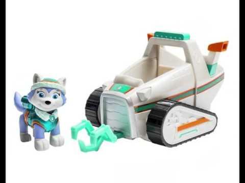 paw patrol pat patrouille figurine everest vehicule de sauvetage de neige jouet pour les enfants. Black Bedroom Furniture Sets. Home Design Ideas