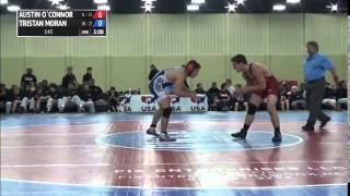 145 f, Tristan Moran, Oklahoma vs Austin O`Connor, Illinois