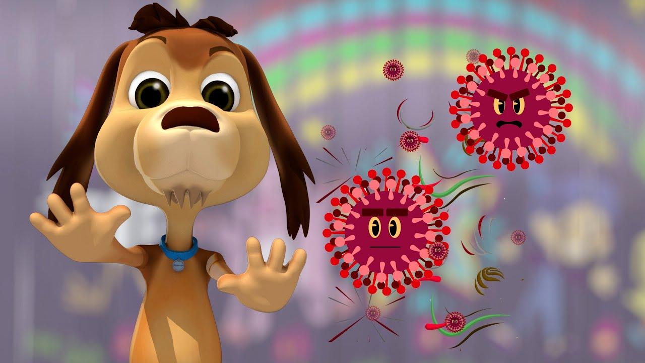 Se va el corona virus con agüita y con jabón - Perro Chocolo