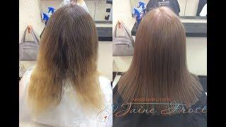 Выравнивание цвета волос Окрашивание в светло русый золотистый цвет