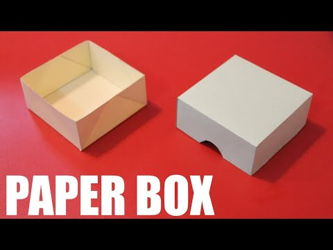 How to make a paper box without glue.