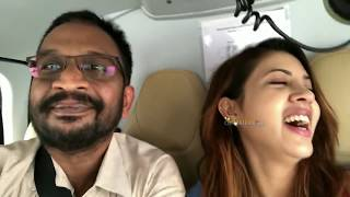 Chitraloka Editor KM Veeresh with Pratham and actress Sahar Afsha In Helicopter
