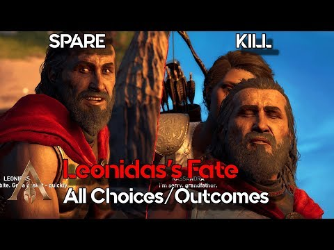 Kill vs Spare Leonidas - All Choices/Outcomes - Assassin's Creed Odyssey - The Fate of Atlantis DLC |
