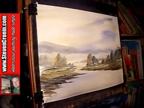Watercolour Landscape Painting Demonstration featuring Glascarnoch in Strathgarve, Scotland