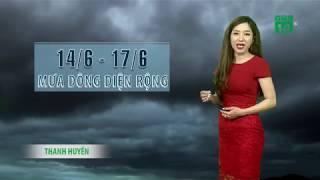 VTC14   Thời tiết cuối ngày 14/06/2018   3 ngày tới mưa rào và dông xuất hiện nhiều ở miền Bắc