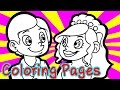 Free Wedding Coloring Pages for Kids Coloring Games - Wedding Coloring Book For Girls