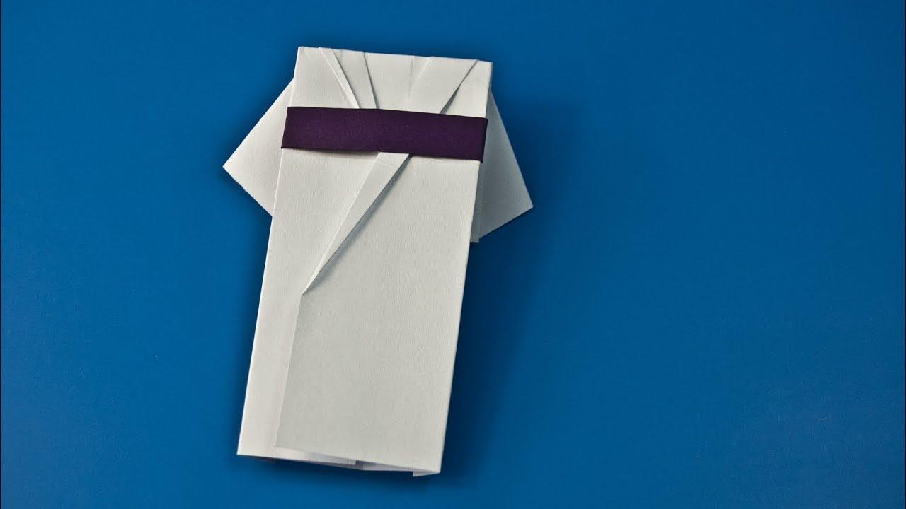 Origami Japanese Doll in Kimono Dress Tutorial - Paper Kawaii | 720x1280