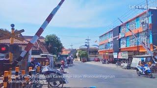 Perlintasan Kereta Api Jalan Wonosari Pegirian Surabaya   KA Ketel BBM Pertamina