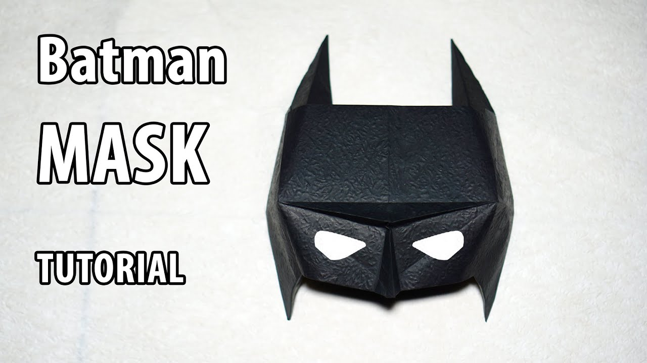 Easy Paper Batman Mask Tutorial Origami Diy Henry Phm Youtube