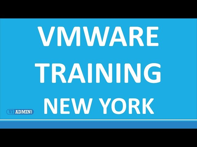 VMware Training New York: Class Schedule and Course Format NYC
