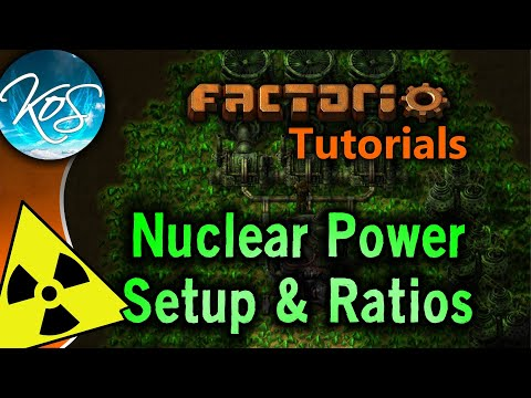 Factorio Tutorials: 0.15 Nuclear Power Setup & Ratios (Uranium processing, Kovarex process)
