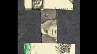 Fold Origami Dollar Bill Alphabet Letter I