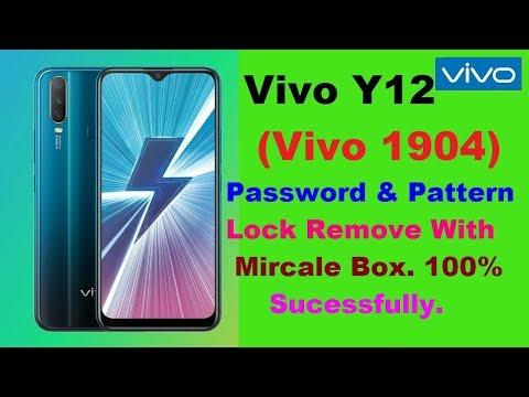 Vivo Y12(1904) Hard Reset,Pattren And Password Lock Remove With Mircale Box