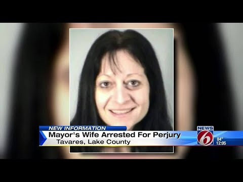 Mayor's wife charged with perjury