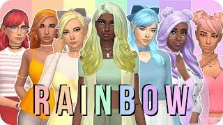 Sims 4 Create A Sim - Rainbow ❤️💛💚