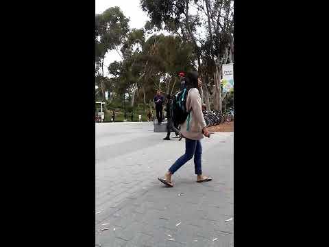 Weirdo college student supports homophobic preacher