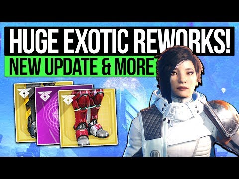 Destiny 2 News | HUGE EXOTIC ARMOR CHANGES! New Update Info, Exotic Buffs, Loot & Protocol Changes!