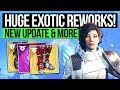 watch he video of Destiny 2 News | HUGE EXOTIC ARMOR CHANGES! New Update Info, Exotic Buffs, Loot & Protocol Changes!