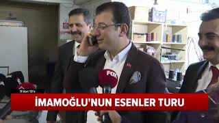 CHP İstanbul Adayı Ekrem İmamoğlu Esenler Turu Yaptı ve AK Parti Mitingine Uğradı