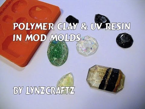 Polymer clay & UV resin in mod molds tutorial