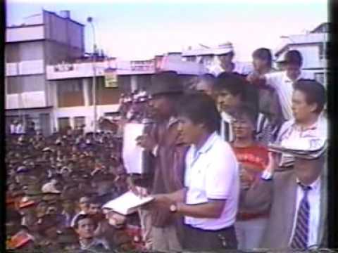 Resultado de imagen para Levantamiento Indígena del Inti Raymi en 1990