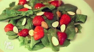 Spinach Salad with Strawberries \ Салат из Шпината с Клубникой