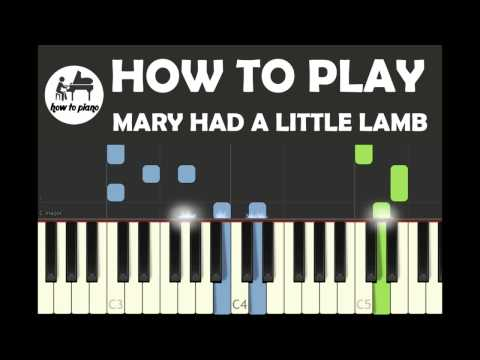 Piano lesson   how to play children song Mary had a little lamb no Music sheet