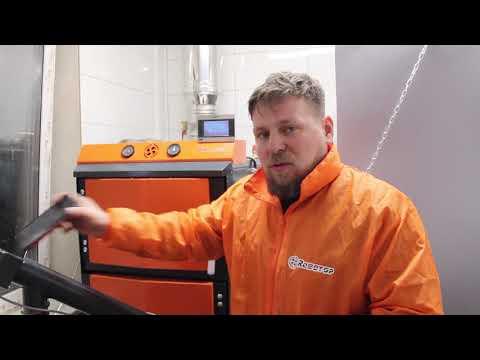 Роботоп в Липецке! 2019 год Работа на пеллетах из лузги подсолнечника