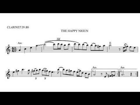 The Happy Nigun Klezmer Clarinet Backing Track With Sheet Music Youtube