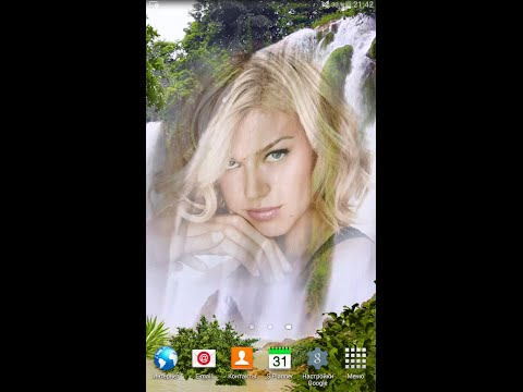 Живые обои для ОС Андроид с Вашим фото на фоне шикарного водопада