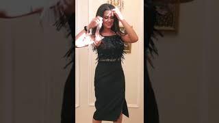 P 0990 Платье коктейльное с верхом из бахромы в виде паетки video