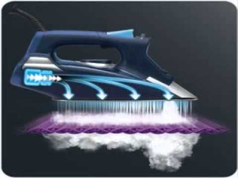 Rowenta DW9280 Steam Force Steam Iron 1800-watt Blue - YouTube