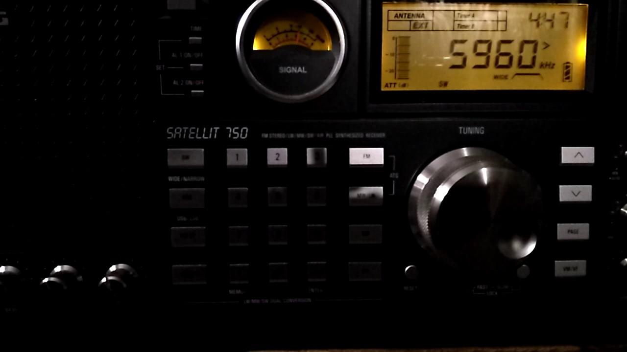Shortwave broadcast of NHK World Radio Japan @ 5960 kHz