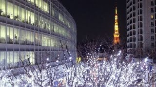 Christmas Illumination at Roppongi Hills and the Tokyo Tower [iPhone 4S/HD]