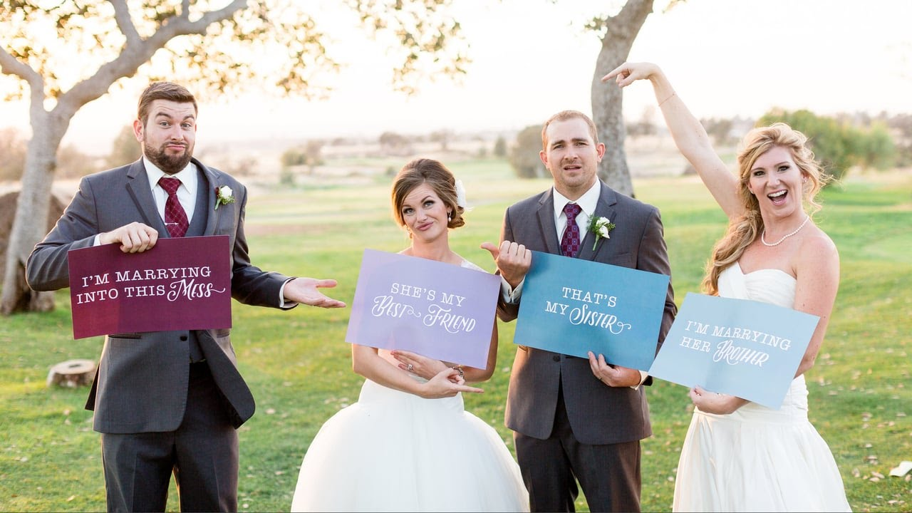 They had a double wedding two brides and two grooms they had a double wedding two brides and two grooms chicodoublewedding youtube junglespirit Image collections