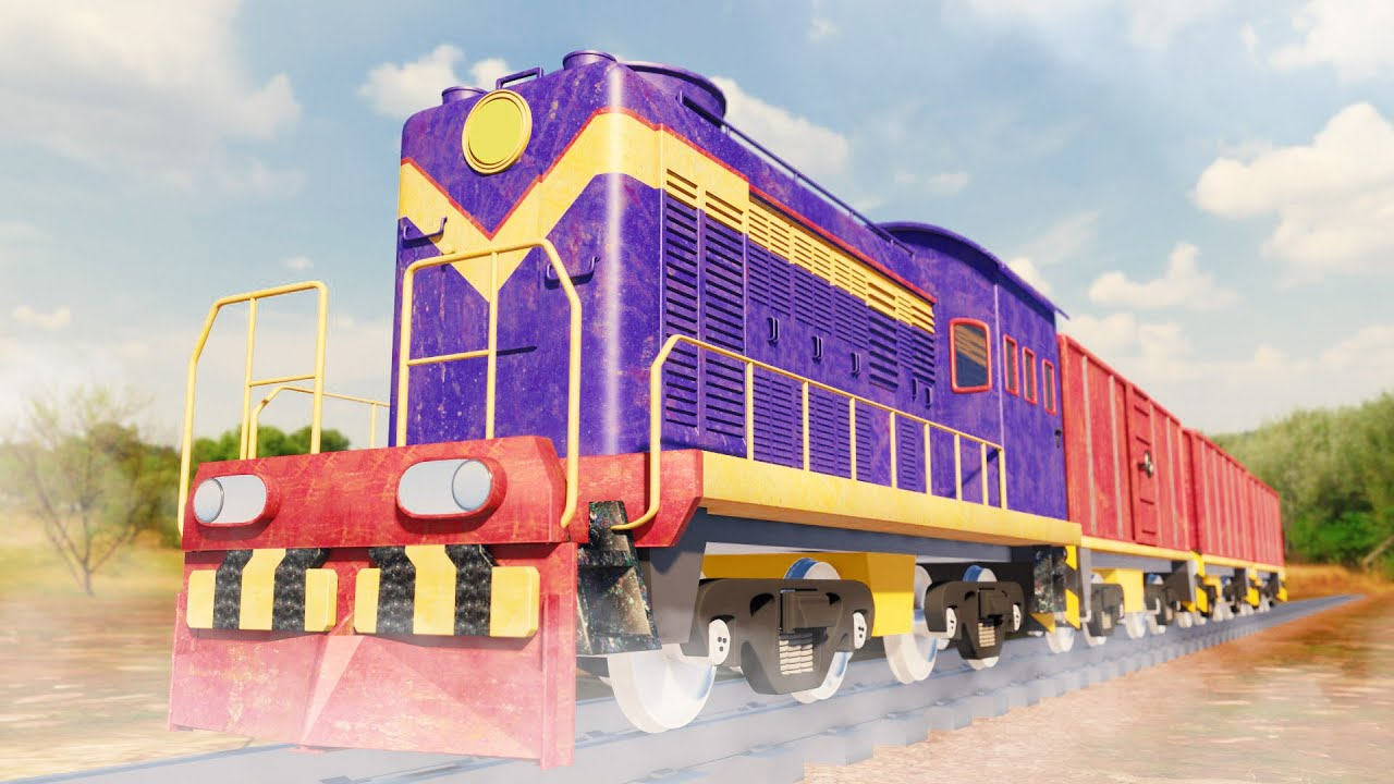 Lego Train Hijack funny cartoon - Lego city cartoon - choo choo train kids videos