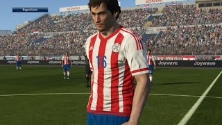 Tutorial uniforme de Paraguay eliminatorias Rusia2018 para PES2016 PS4 Next-Gen PESnosUNE