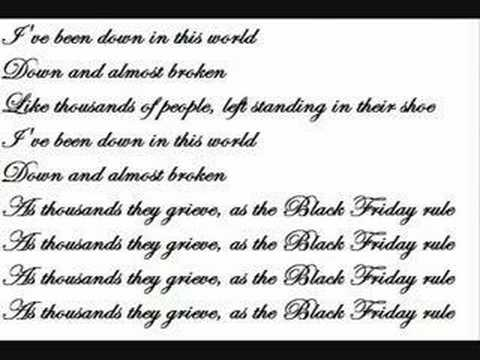 Flogging Molly - Black Friday Rule (Lyrics)