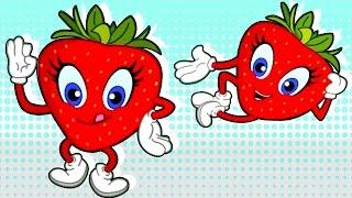 strawberry fruit song nursery rhymes for children chikaraks
