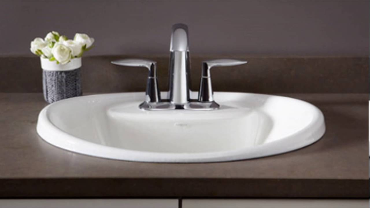 drop in bathroom sinks - YouTube