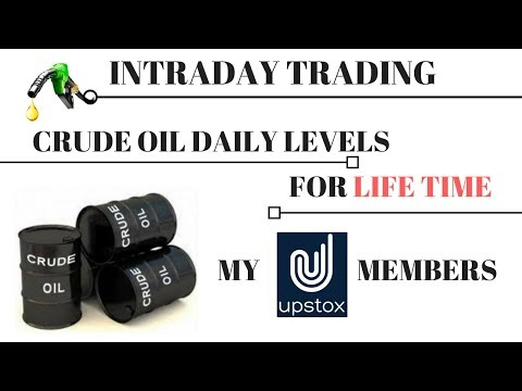 Intraday Trading Crude Oil Daily level For Life Time :- My Upstox members