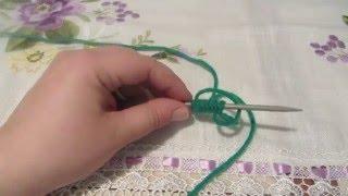 Как набрать петли на спицы