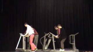 OK Go Here it Goes Again Dance - Hargrave Talent Show