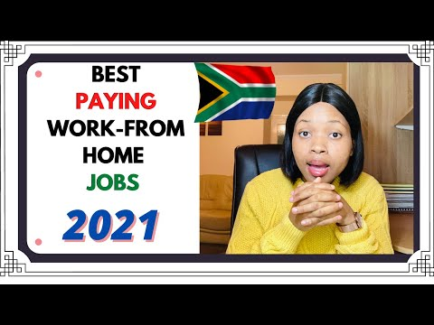 BEST PAYING  WORK-FROM HOME JOBS 2021