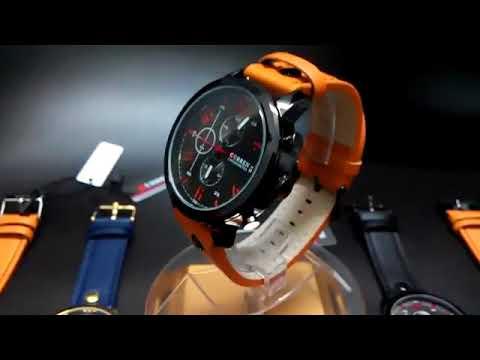 436f7d9abe6 Relógio Masculino Curren Pulseira De Couro Esportivo Militar - YouTube