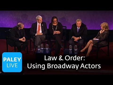 Law and Order: 20 Years - Using NYC & Broadway Actors (Paley Center Interview)