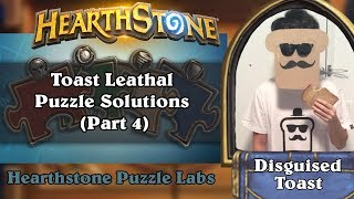 Hearthstone Puzzle Labs - Toast Leathal Puzzle Solutions (Part 4)