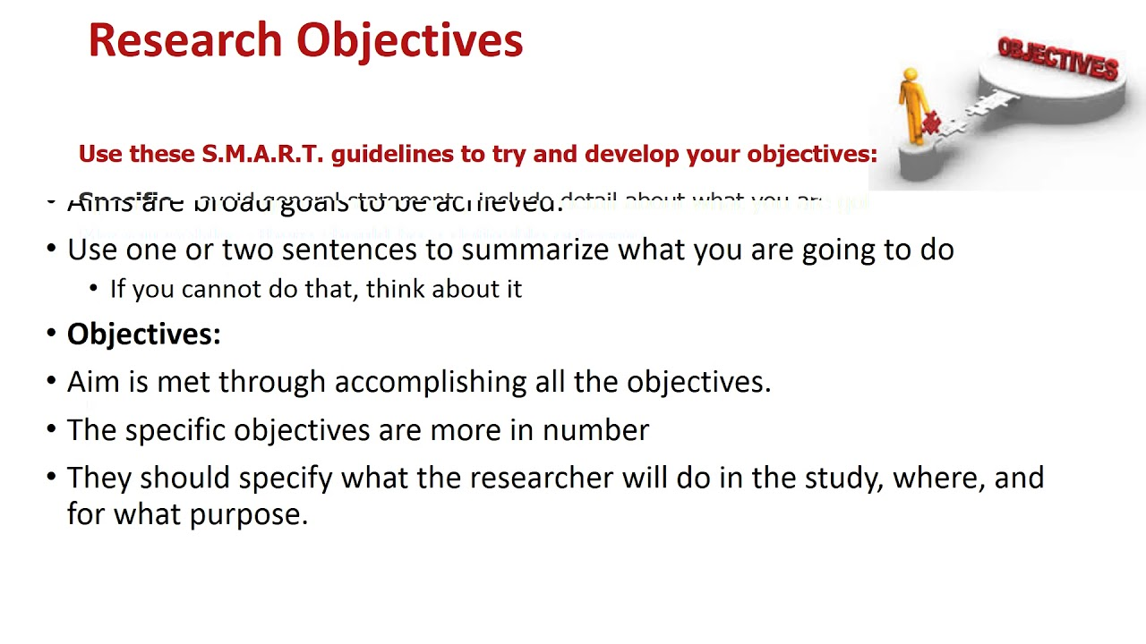 smart research objectives Objectives and goal setting by use onstrategy's expertise and software to build your strategic objective framework, cascade your smart research and.