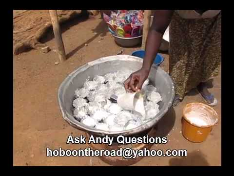 Ablo a Steamed White Bread Food in Dapaong, Togo West Africa